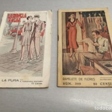 Libros antiguos: LA NOVELA IDEAL / LOTE 2 NÚMEROS: 201 Y 399 / TRINI LA PURA - RAMILLETE DE FLORES / REVISTA BLANCA. Lote 205852405