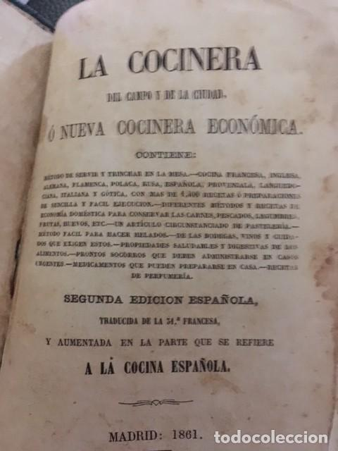 LA COCINERA O LA NUEVA COCINA ECONÓMICA. 1861 (Libros Antiguos, Raros y Curiosos - Cocina y Gastronomía)