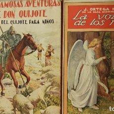 Libros antiguos: LAS FAMOSAS AVENTURAS DE DON QUIJOTE (EDICIÓN PARA NIÑOS). 1928 Y LA VOZ DE LOS NIÑOS 1922.. Lote 206252858