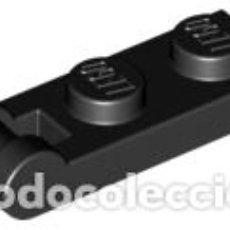 Libros antiguos: LEGO 60478 NEGRO PLANCHA MODIFICADA 1 X 2 CON ASA EN EL EXTREMO CJN5. Lote 206275206