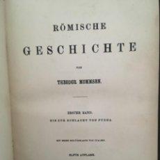 Libros antiguos: ROMISCHE GESCHICHTE, THEODOR MOMMSEN, 3 BAND, KOMPLETT. Lote 206570152