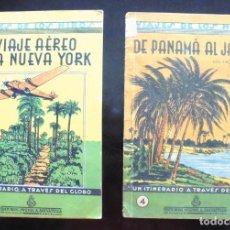 Libros antiguos: VIAJES DE LOS NIÑOS UN ITINERARIO A TRAVÉS DEL GLOBO 2 I 4 SALVATELLA UN VIAJE AÉREO A NUEVA YORK. Lote 206802517