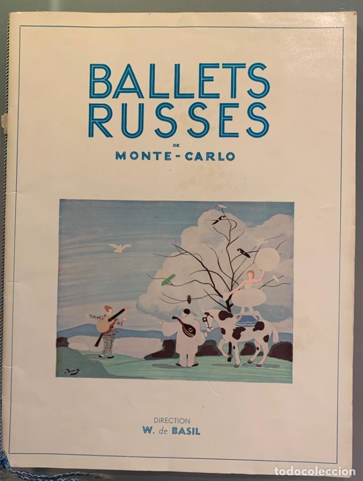 BALLETS RUSSES DE MONTE-CARLO (Libros Antiguos, Raros y Curiosos - Bellas artes, ocio y coleccionismo - Otros)