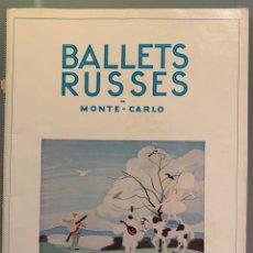 Libros antiguos: BALLETS RUSSES DE MONTE-CARLO. Lote 206799042