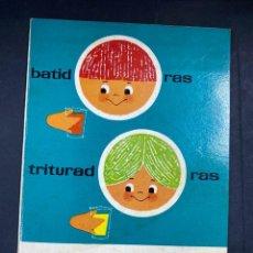 Libros antiguos: RECETARIO SUPERMIX. BATIDORAS. TRITURADORAS. PRODUCTO HIPANO SUIZA. PAGS: 48. Lote 206873577