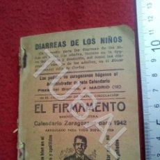 Libros antiguos: TUBAL 1942 EL FIRMAMENTO CALENDARIO ZARAGOZANO U26. Lote 206913305