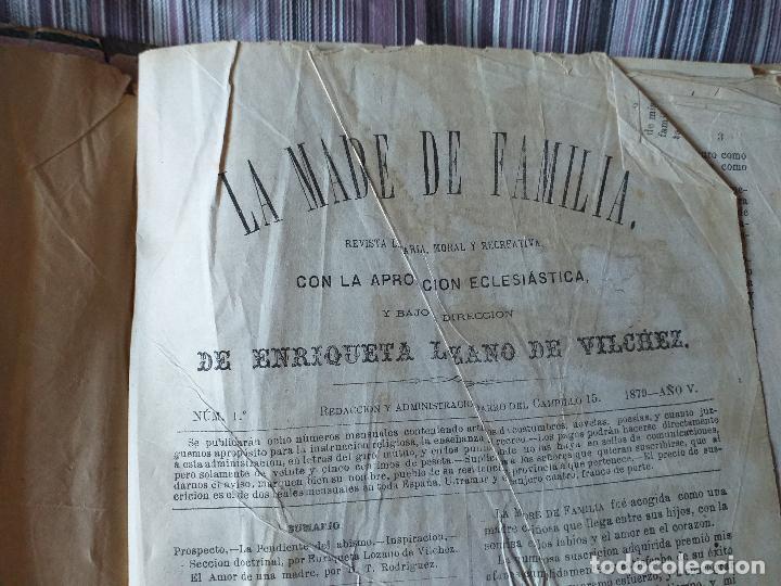 Libros antiguos: La Madre de familia. Enriqueta Lozano Vilchez, 1879. Año completo. Literatura, mujer, historia, XIX - Foto 10 - 57927374