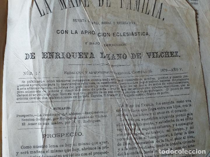 Libros antiguos: La Madre de familia. Enriqueta Lozano Vilchez, 1879. Año completo. Literatura, mujer, historia, XIX - Foto 12 - 57927374