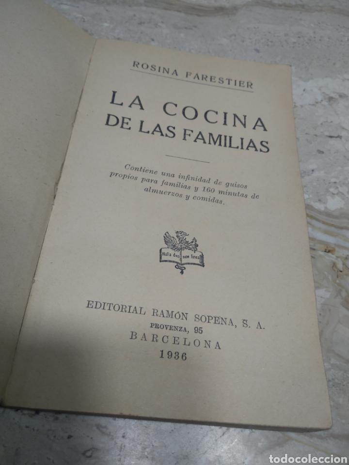 Libros antiguos: La cocina de las familias recetas de cocina primera edición 1936 Rosina farestier - Foto 14 - 206956715