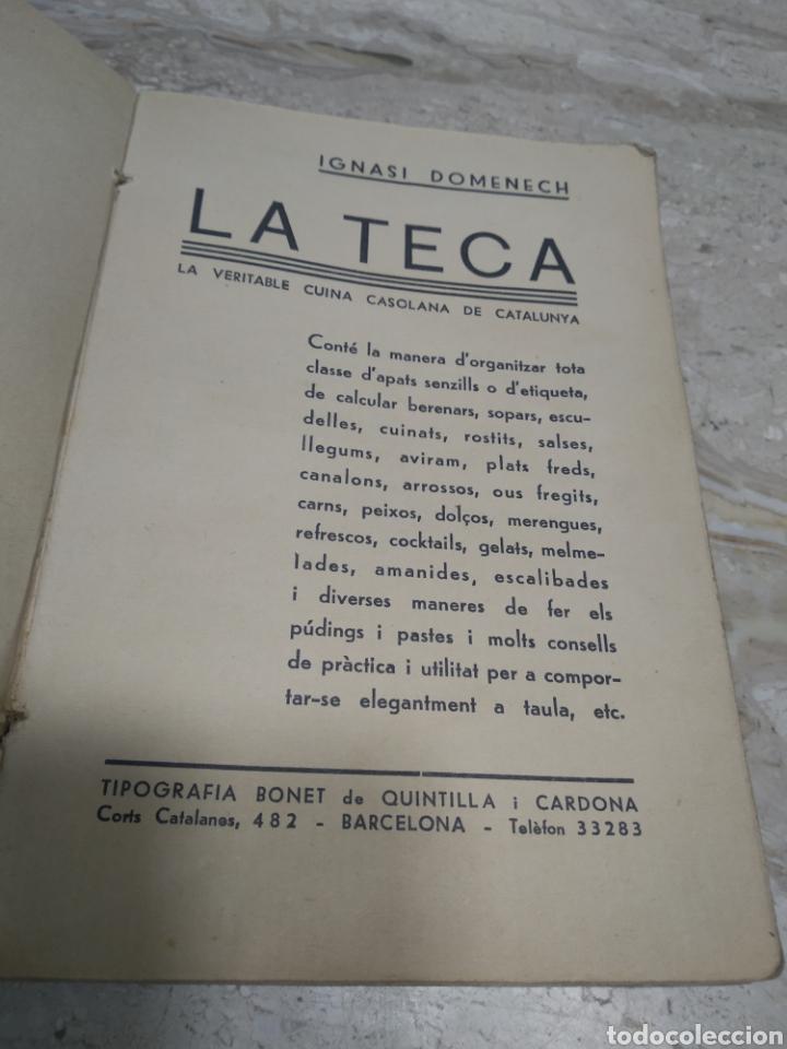 Libros antiguos: Libro de recetas de cocina la teca Ignasi domenech primera edición - Manresa - Foto 4 - 206957680