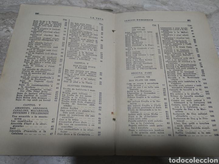 Libros antiguos: Libro de recetas de cocina la teca Ignasi domenech primera edición - Manresa - Foto 8 - 206957680
