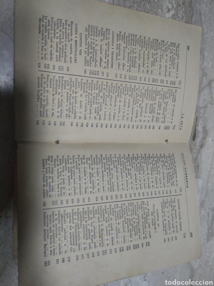 Libros antiguos: Libro de recetas de cocina la teca Ignasi domenech primera edición - Manresa - Foto 9 - 206957680