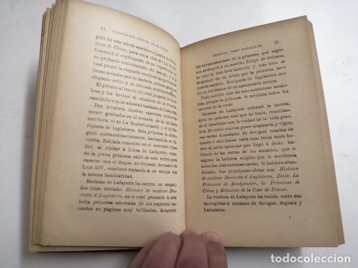 Libros antiguos: Mujeres, vidas paralelas. Concepción Gimeno de Flaquer. 1893 Madrid. Im.: Alfredo Alonso - Foto 4 - 206975023