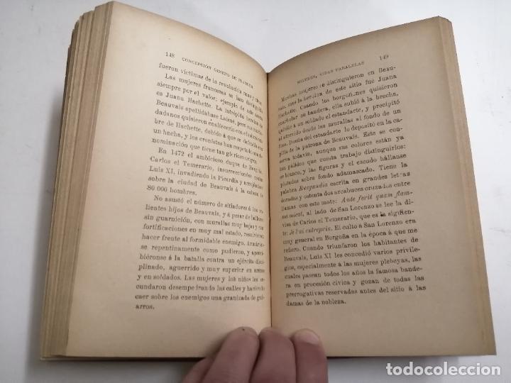 Libros antiguos: Mujeres, vidas paralelas. Concepción Gimeno de Flaquer. 1893 Madrid. Im.: Alfredo Alonso - Foto 5 - 206975023