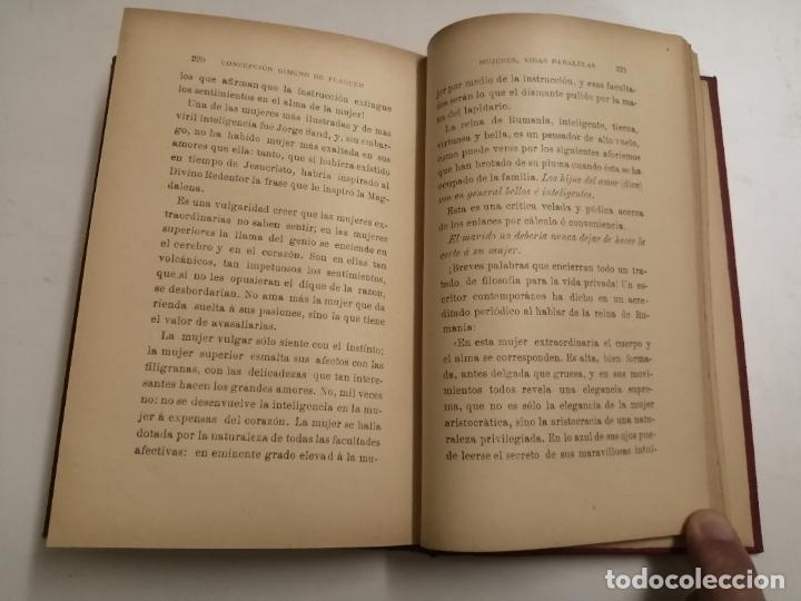 Libros antiguos: Mujeres, vidas paralelas. Concepción Gimeno de Flaquer. 1893 Madrid. Im.: Alfredo Alonso - Foto 6 - 206975023