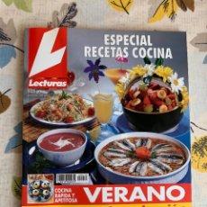 Libros antiguos: REVISTA LECTURAS 1996, MONOGRÁFICO ESPECIAL RECETAS DE COCINA DE VERANO. NUEVO.. Lote 206991062