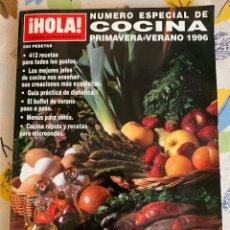 Libros antiguos: REVISTA HOLA, NÚMERO ESPECIAL DE COCINA, PRIMAVERA - VERANO 1996. EXTRAORDINARIO. NUEVA. Lote 206992426