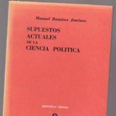 Libros antiguos: SUPUESTOS ACTUALES DE LA CIENCIA POLÍTICA, MANUEL RAMÍREZ JIMÉNEZ. Lote 207031128
