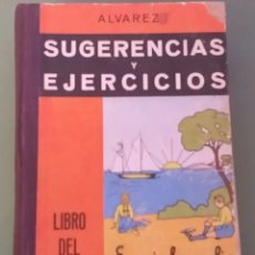 Libros antiguos: SUGERENCIAS Y EJERCICIOS LIBRO DEL MAESTRO TERCER GRADO+5€ ENVIO C.N.SOLO PENINSULA. Lote 207045223