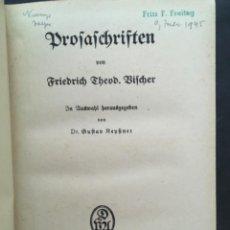 Libros antiguos: AUSGEWÄHLTE WERKE, FRIEDRICH THEODOR VISCHER, 3 BAND, 1918. Lote 207046796
