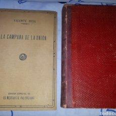 Libros antiguos: LIBROS.LA CAMPANA DE LA UNION.V.BOIX. P. ESCRICH. LAS OBRAS DE LA MISERICORDIA.MERCANTIL VALENCIANO.. Lote 207052408