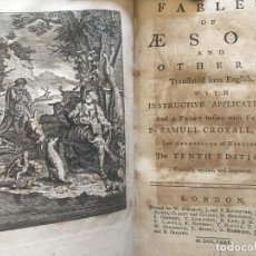 Libros antiguos: FABLES OF AESOP AND OTHERS..., 1775. ESOPO/SAMUEL CROXALL. ILUSTRADO. Lote 207070612