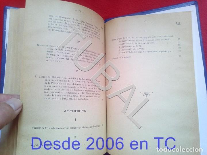Libros antiguos: TUBAL ULTIMOS DIAS DE LA FERIA DE GUADITOCA ANTONIO MUÑOZ Y TORRADO 1922 U26 - Foto 4 - 207124450