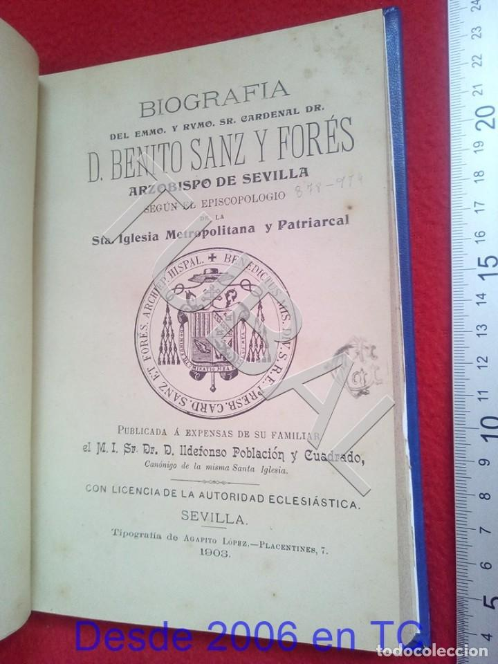 Libros antiguos: TUBAL BENITO SANZ Y FORÉS BIOGRAFIA 1903 IDEFONSO POBLACION U26 - Foto 8 - 207124726