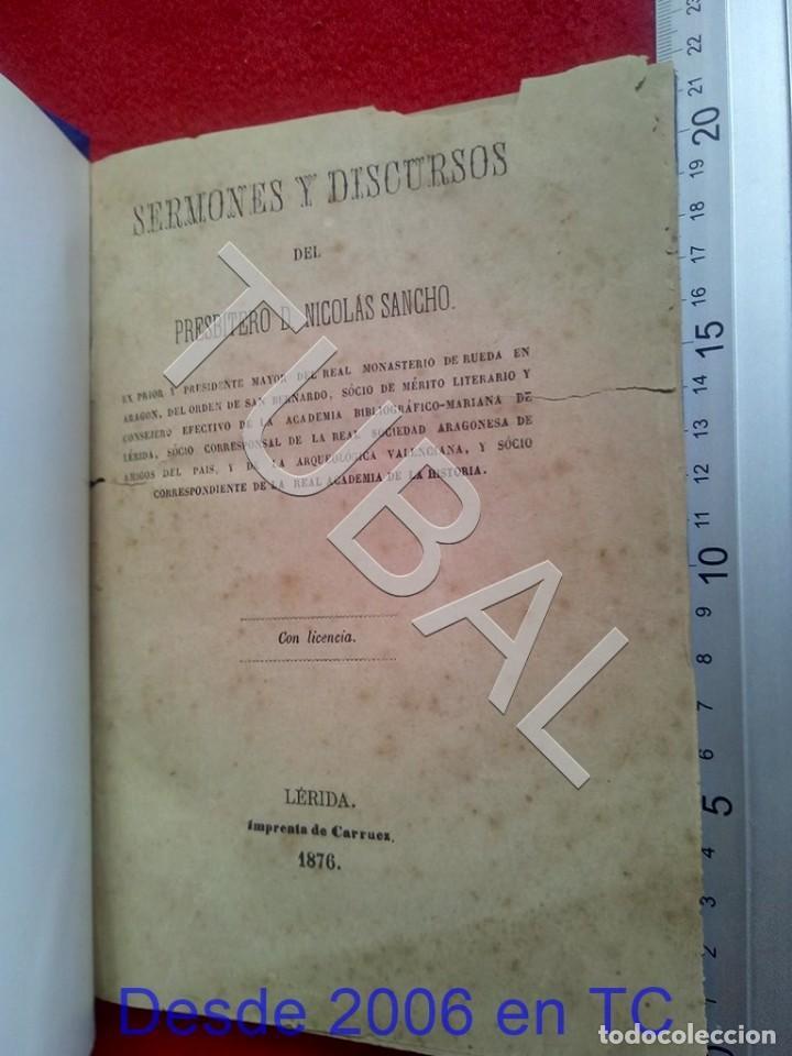 TUBAL SERMONES Y DISCURSOS NICOLAS SANCHO LERIDA 1876 U26 (Libros Antiguos, Raros y Curiosos - Bellas artes, ocio y coleccionismo - Otros)