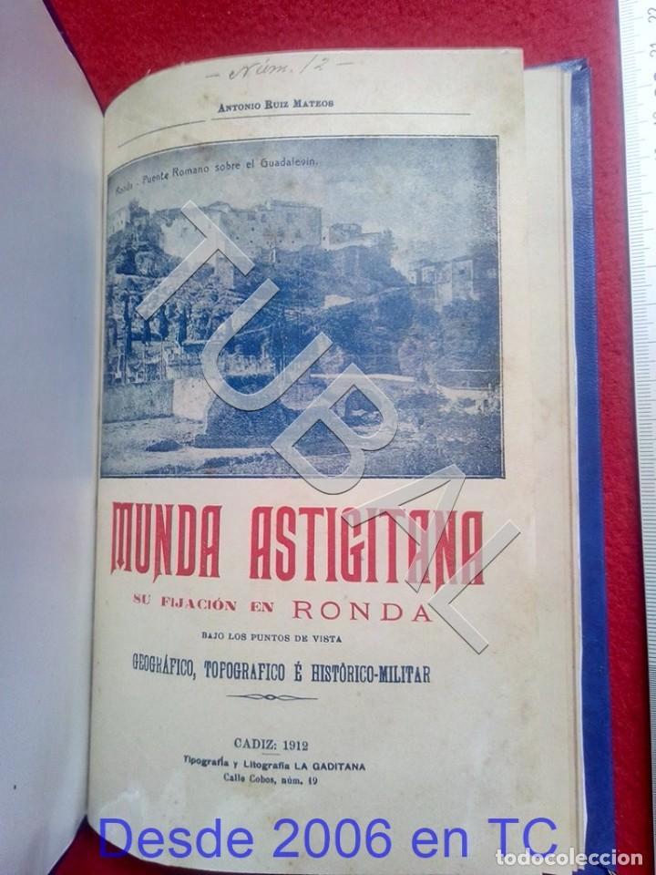 TUBAL ECIJA MUNDA ASTIGITANA ANTONIO RUIZ MATEOS 1912 CADIZ U26 (Libros Antiguos, Raros y Curiosos - Bellas artes, ocio y coleccionismo - Otros)