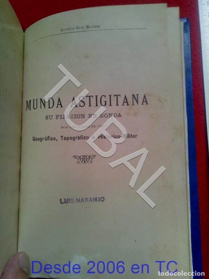 Libros antiguos: TUBAL ECIJA MUNDA ASTIGITANA ANTONIO RUIZ MATEOS 1912 CADIZ U26 - Foto 4 - 207126030