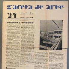 Libros antiguos: GACETA DE ARTE. REVISTA DE CULTURA INTERNACIONAL. N. 21, FEBRERO 1934. EDUARDO WESTERDAHL. Lote 206810057