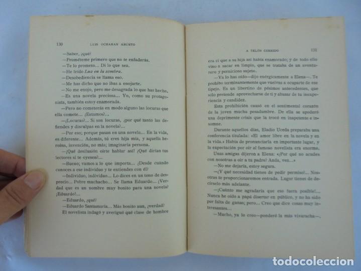 Libros antiguos: A TELON CORRIDO. LUIS OCHORAN ABURTO. DEDICADO POR EL AUTOR. ARTICULOS Y CUENTOS. 1934. 1 EDICION. - Foto 14 - 207216017