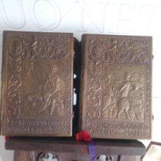 Libros antiguos: FACSÍMIL PRIMERA EDICIÓN QUIJOTE CERVANTES BRONCE REALIZADO ORFEBRE DON MAESE CALVO BURGOS 19399. Lote 207468262