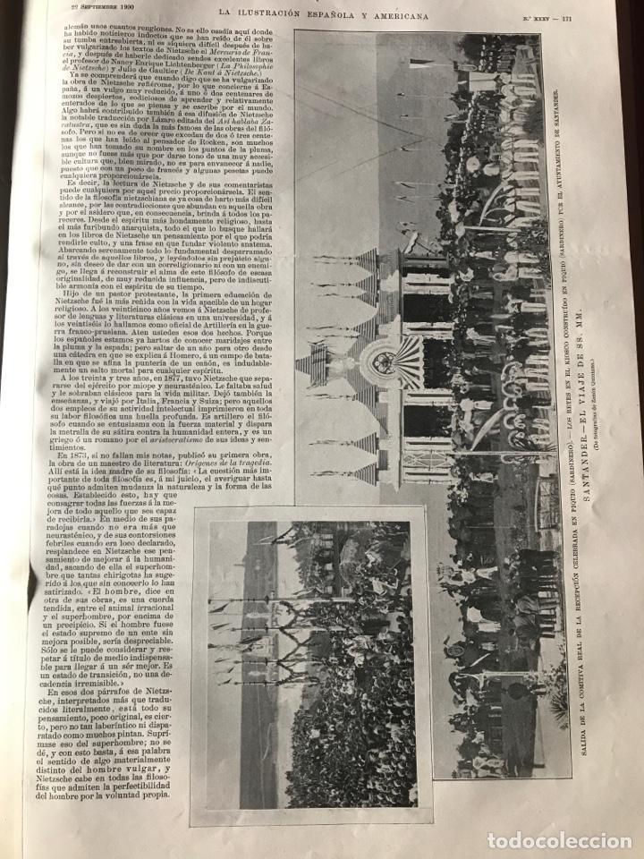 Libros antiguos: La ilustración española y americana año 1900 - Foto 4 - 207500126