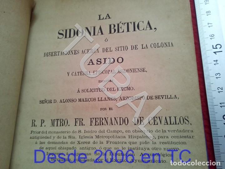 Libros antiguos: TUBAL LA SIDONIA BETICA 1864 FERNANDO DE CEVALLOS SEVILLA U26 - Foto 2 - 207525526