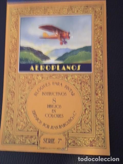 BLOQUES PARA PINTAR. AEROPLANOS. AÑOS 30. (Libros Antiguos, Raros y Curiosos - Literatura Infantil y Juvenil - Otros)