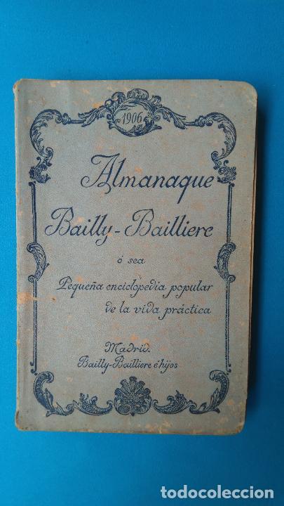 ALMANAQUE BAILLY - BAILLIERE - 1906 (Libros Antiguos, Raros y Curiosos - Pensamiento - Otros)