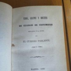 Libros antiguos: TIPOS, GRUPOS Y BOCETOS DE CUADROS DE COSTUMBRES, DIBUJADOS A LA PLUMA, 1843 Á 1860 DIBUJADAS A LA. Lote 207642193
