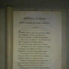 Libros antiguos: EPISTOLA A FANNI SOBRE EL ASEDIO DE LA ISLA GADITANA - AÑO 1823 - J.BAUTISTA DE ARRIAZA.. Lote 207799935