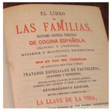 Libros antiguos: EL LIBRO DE LAS FAMILIAS.NOVISIMO MANUAL PRACTICO DE COCINA ESPAÑOLA. MADRID 1871. Lote 207998831