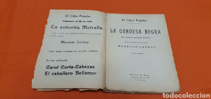 Libros antiguos: La condesa negra. Mauricio landay, el libro popular. Carot corta-cabezas. Ed. Bauzá - Barcelona 1926 - Foto 4 - 208046043