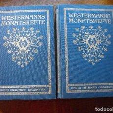 Libros antiguos: WESTERMANS MONATSHEFTE. DRUCK UND VERLAG. 1911. DOS TOMOS.. Lote 208047800