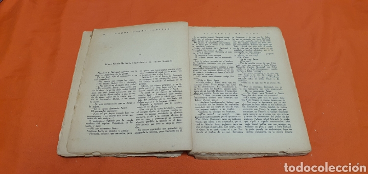 Libros antiguos: Justicia de dios. Mauricio landay, el libro popular. Carot corta-cabezas. Ed. Bauzá - Barcelona 1928 - Foto 5 - 208049462