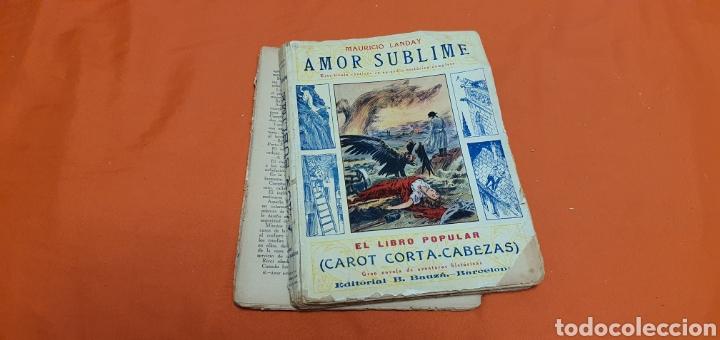 Libros antiguos: Amor sublime, Mauricio landay, el libro popular. Carot corta-cabezas. Ed. Bauzá - Barcelona 1928 - Foto 9 - 208049922