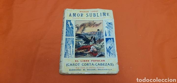 AMOR SUBLIME, MAURICIO LANDAY, EL LIBRO POPULAR. CAROT CORTA-CABEZAS. ED. BAUZÁ - BARCELONA 1928 (Libros antiguos (hasta 1936), raros y curiosos - Literatura - Narrativa - Otros)