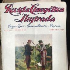 Libros antiguos: REVISTA CINEGÉTICA IJUSTRADA AÑO SÉPTIMO 1929 CAZA. Lote 208059385