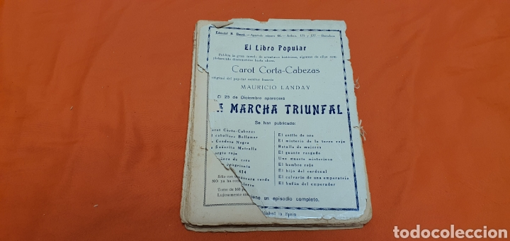 Libros antiguos: La agonía del aguila, Mauricio landay, lib. popular. Carot corta-cabezas. Ed. Bauzá - Barcelona 1928 - Foto 7 - 208072002