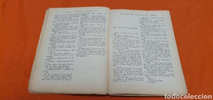 Libros antiguos: El lord de la mascara verde, Mauricio landay, popular Carot corta-cabezas. Ed. Bauzá -Barcelona 1926 - Foto 4 - 208072396