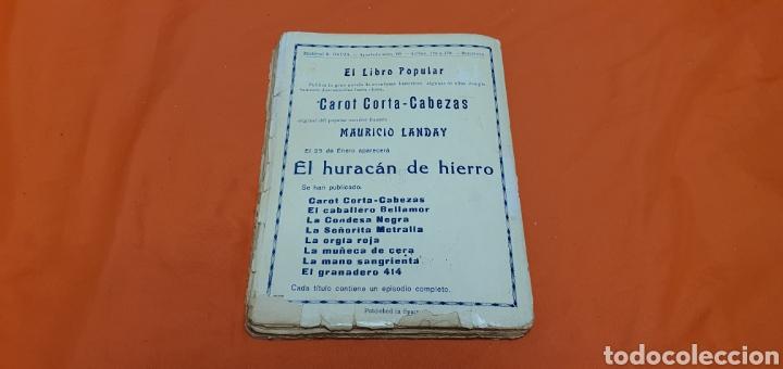 Libros antiguos: El lord de la mascara verde, Mauricio landay, popular Carot corta-cabezas. Ed. Bauzá -Barcelona 1926 - Foto 6 - 208072396